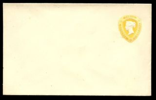 Gb Qv Printed To Private Order Three Halfpence Yellow Fine Envelope photo
