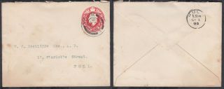 Kevii 1d Red Emb ' D Stationery Envelope;york Cds To Hull photo