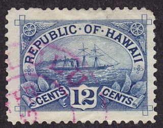 Hawaii Scott 78 Stamp -,  Sharp Cancel - & Fresh Old Classic photo