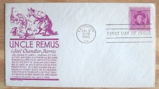 1948 Us Fdc First Day Cover 980 Joel Chandler Harris Creator Of Uncle Remus photo