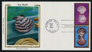 Palau 45,  50 Colorano Silk Cachet Fdc Shells photo