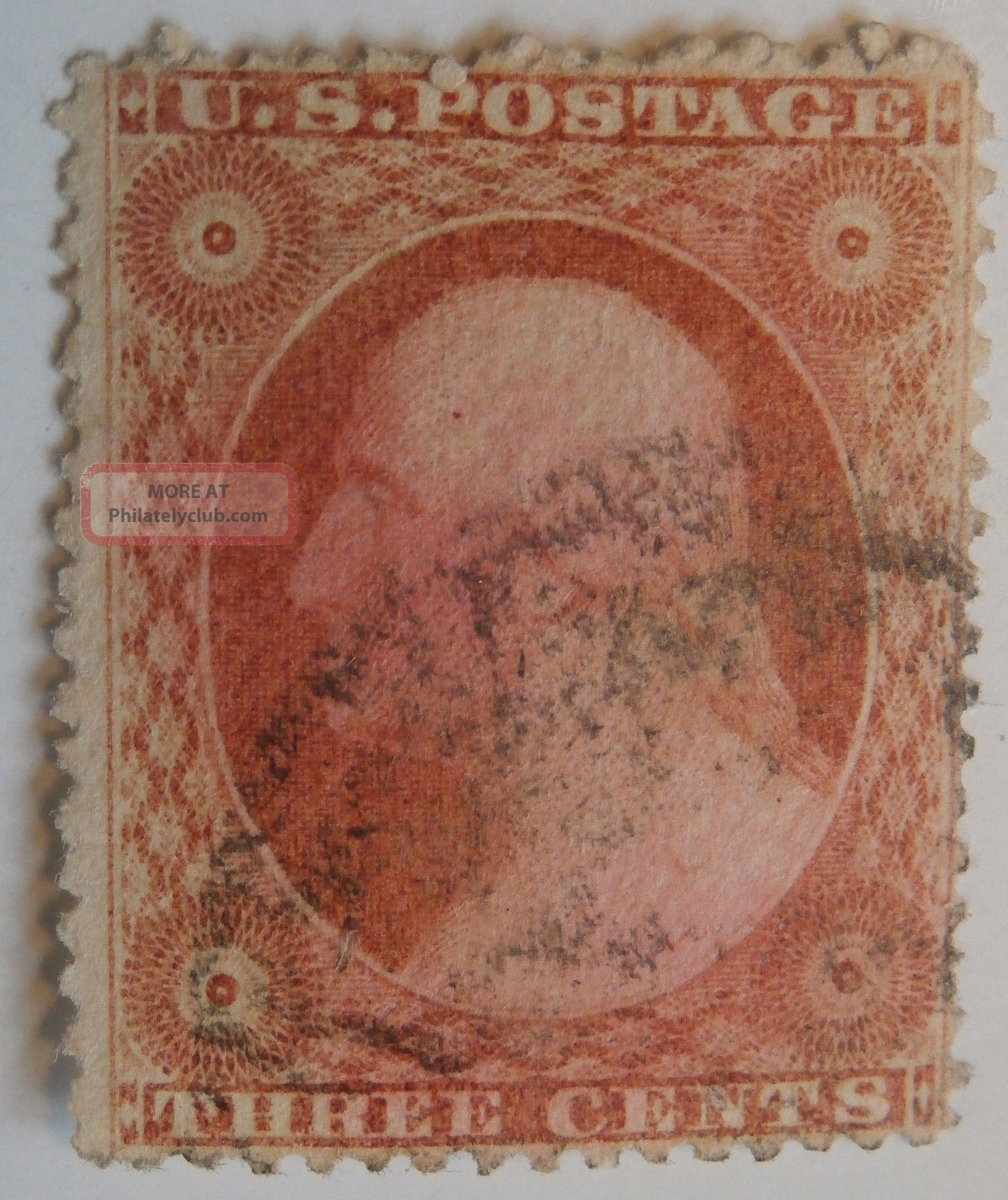 Washington No 26 Three Cent Dull Red A10 Type Ii