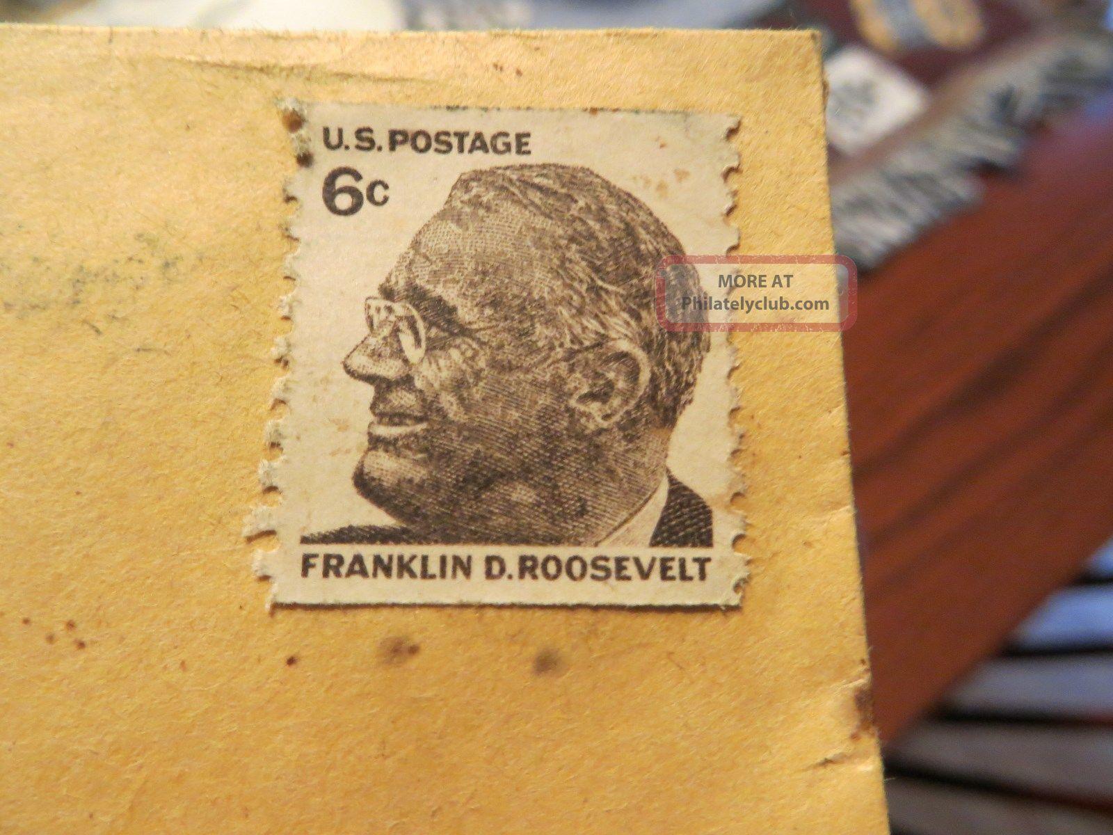 1968 Franklin D.  Roosevelt 6 Cent U.  S.  Postage Stamp United States photo