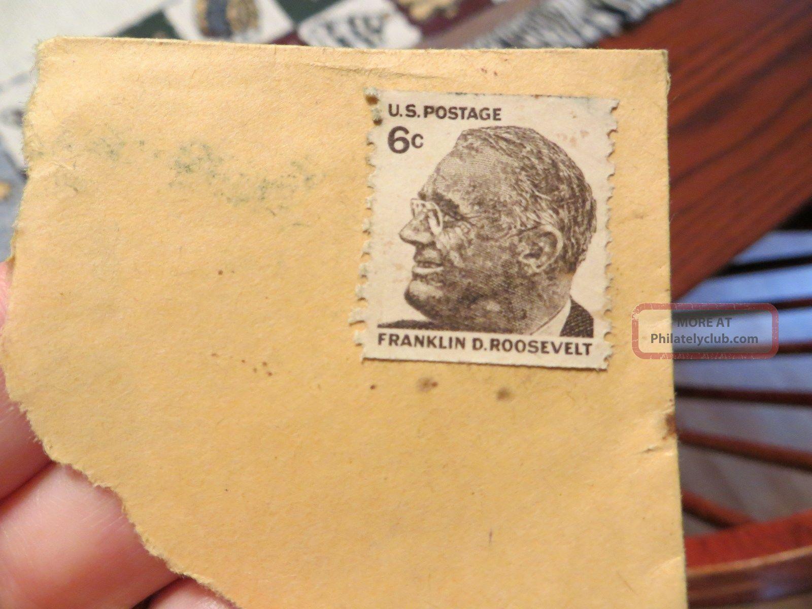 1968 Franklin D Roosevelt 6 Cent U S Postage Stamp