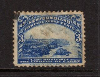 Newfoundland,  Canada 1897,  Sc 63,  Cape Bonavista,  3c Ultramarine, photo