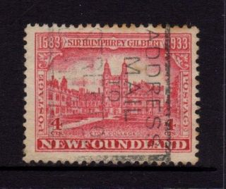 Newfoundland Canada 1933,  Sc 215,  Sir Humphrey Gilbert,  Eton College,  4c, photo