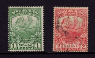 Newfoundland Canada 1919,  Sc 115 & 116 Caribou Trail,  Suvla Bay & Ubique, photo
