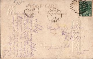 1913 Happy Year Postcard - - Troy & Lynden,  Ontario Hand Cancels photo