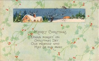 1927 Christmas Postcard - - London,  Ontario Santa Claus Slogan Cancel photo