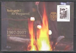 Scout Centenary Special Event Canada 2007 Printed Cover Scott Sp.  Cat.  S74 photo