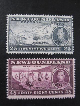 Newfoundland - Scott 233 - 243 - Cs - Mh - Cat Val $33.  15 photo