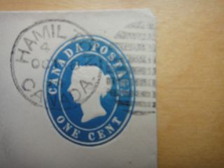 Canada Postal Stationery - Scott U3 - Embossed 1c Blue,  Block 4 34 1/2 Cent Black photo