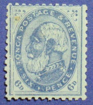 1888 Tonga 6d Scott 3 S.  G.  3a Cs00841 photo