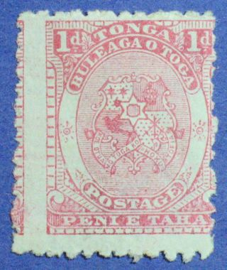 1892 Tonga 1d Scott 10 S.  G.  10 Cs00857 photo
