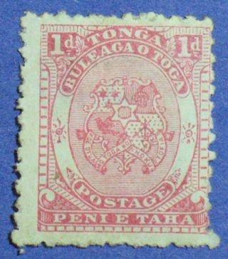 1892 Tonga 1d Scott 10 S.  G.  10 Cs00858 photo