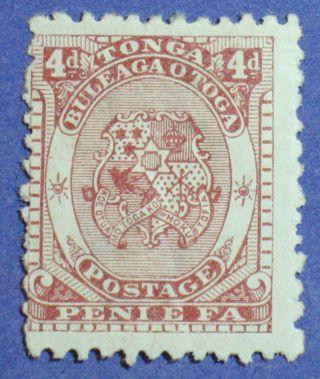 1892 Tonga 4d Scott 12 S.  G.  12 Cs00867 photo