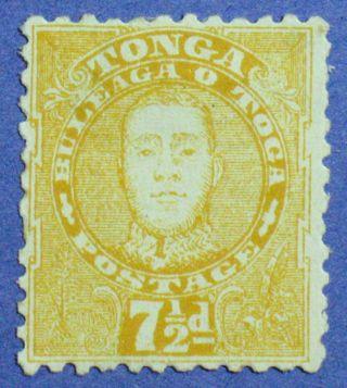 1895 Tonga 7 1/2d Scott 32 S.  G.  35 Cs00883 photo