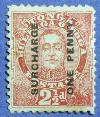 1895 Tonga 1d Scott 34 S.  G.  30 Varity Cs00888 photo