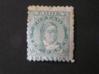Cook Islands.  Scott 14,  10p.  Value Green Wmk Scott 62 Q.  Makea Takau 1893 Mh photo