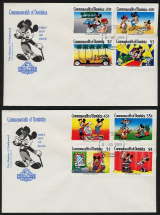 Dominica 1208 - 17 Fdc ' S Disney,  The Glamour Of Hollywood photo