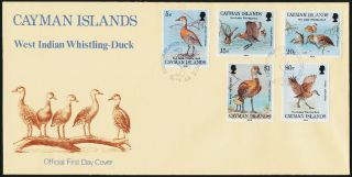 Cayman Islands 681 - 5 Fdc Birds,  Whistling Duck photo