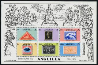 Anguilla 354a Stamp On Stamp,  Aircraft photo