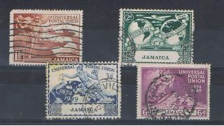 Jamaica - 1949 - Sg145 To Sg148 - Cv £ 8.  50 - photo