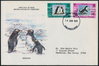 British Antarctic Territory 72 - 3 Fdc Penguins,  Birds photo