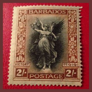 Barbados 1920 - 2/ - Victory From Victoria Memorial Mh/very Fine As Per Scans photo