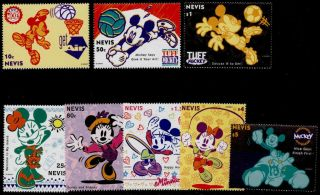 Nevis 829 - 36 Disney,  Mickey Playing Sports,  Minnie Mouse photo