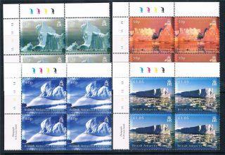 British Antarctic 2007 Icebergs Pl.  Blks 4 Sg456/9 photo