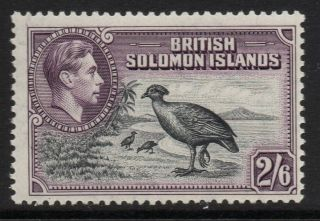 British Solomon Is.  Sg70 1939 2/6 Black & Violet Mtd photo