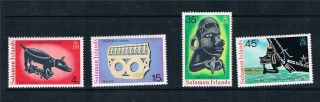 Solomon Is 1976 Artefacts 1st Series Sg 301/4 photo
