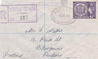 Southern Rhodesia : Queen Elizabeth Ii Royal Tour,  Royal Train Reg.  Cover (1953) photo
