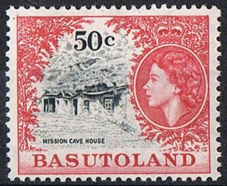 Basutoland Stamp 1962 50c Dp Ultramarine And Crimson Sg78 photo