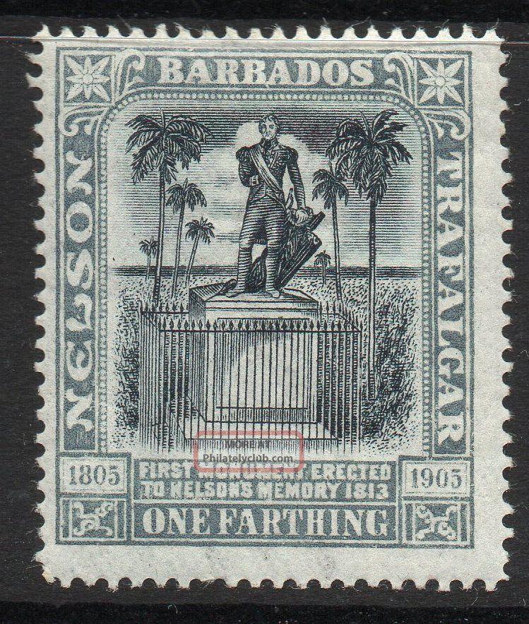 Barbados Sg145 1906 ¼d Black & Grey Mtd British Colonies & Territories photo