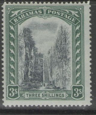 Bahamas Sg80 1917 3/= Black & Green Mtd photo