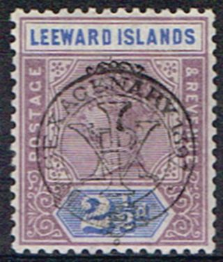 Leeward Islands 1897 2 1/2d Dull Mauve & Blue Sg11 Fine Lmm photo