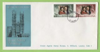 St Helena 1972 Royal Silver Wedding Crown Agents First Day Cover photo