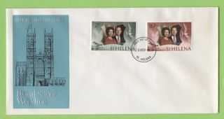 St Helena 1972 Royal Silver Wedding First Day Cover photo