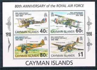 Cayman Is 1998 80th Anniversary Of Raf M.  S.  Sg863 photo