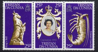 Tristan Da Cunha Sg239/41 1978 25th Anniv Of Coronation photo