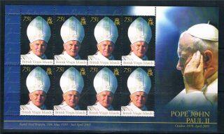 Swaziland 2008 Pope John Paul Sg 750 Sheet photo