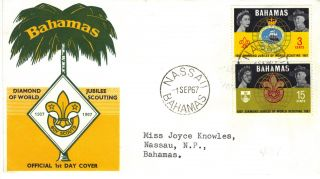 Bahamas 1966 Who Stamp Illustrated First Day Cover Re:cw163 photo