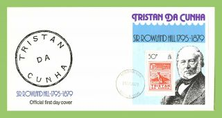 Tristan Da Cunha 1979 Death Centenary Of Sir Rowland Hill M/s On First Day Cover photo
