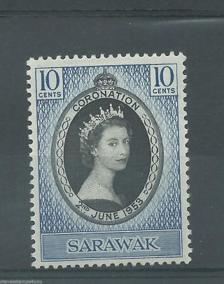 Sarawak - 1953 - Coronation - Sg187 - Cv £ 1.  60 - Mounted photo