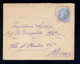 Malta 1902 Qv 2 1/2d Solo Rate Cover To Rome. . .  Cospicua photo