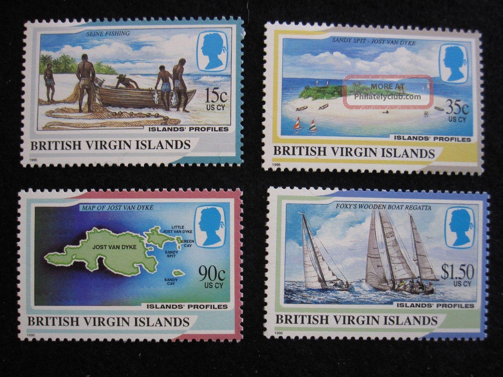 British Virgin Islands - Scott 820 - 823 - Cs - - Cat Val $11.  00 British Colonies & Territories photo