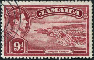Jamaica 1938 (kgvi) 9d Lake Sg129 Cv £0.  50 Uh Postage photo