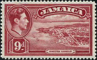 Jamaica 1938 (kgvi) 9d Lake Sg129 Cv £1.  00 Mh Postage photo